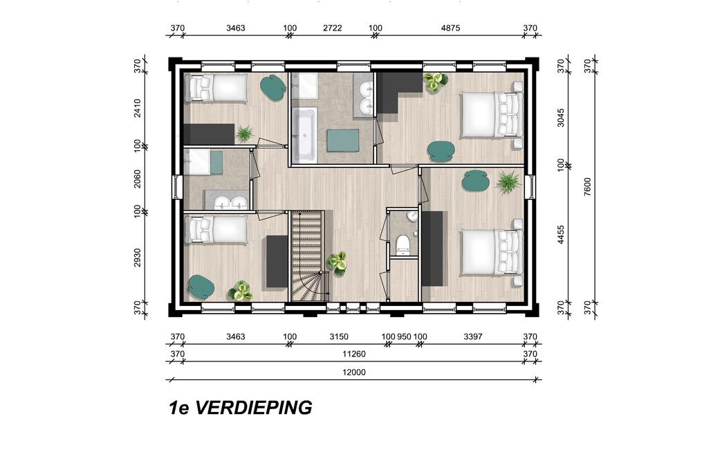 Model londen 1e verdieping