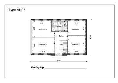 Type VH03 1e Verdieping A4