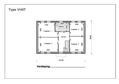 Type VH07 1e Verdieping A4