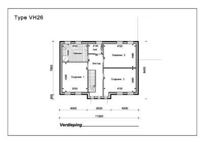Type VH26 1e verdieping A4