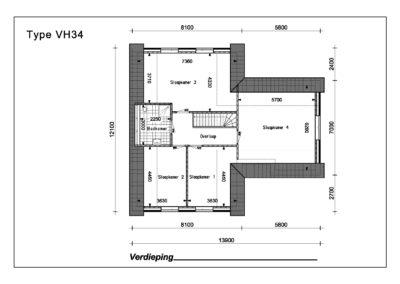 Type VH34 1e Verdieping A4