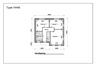 Type VH40 1e Verdieping A4