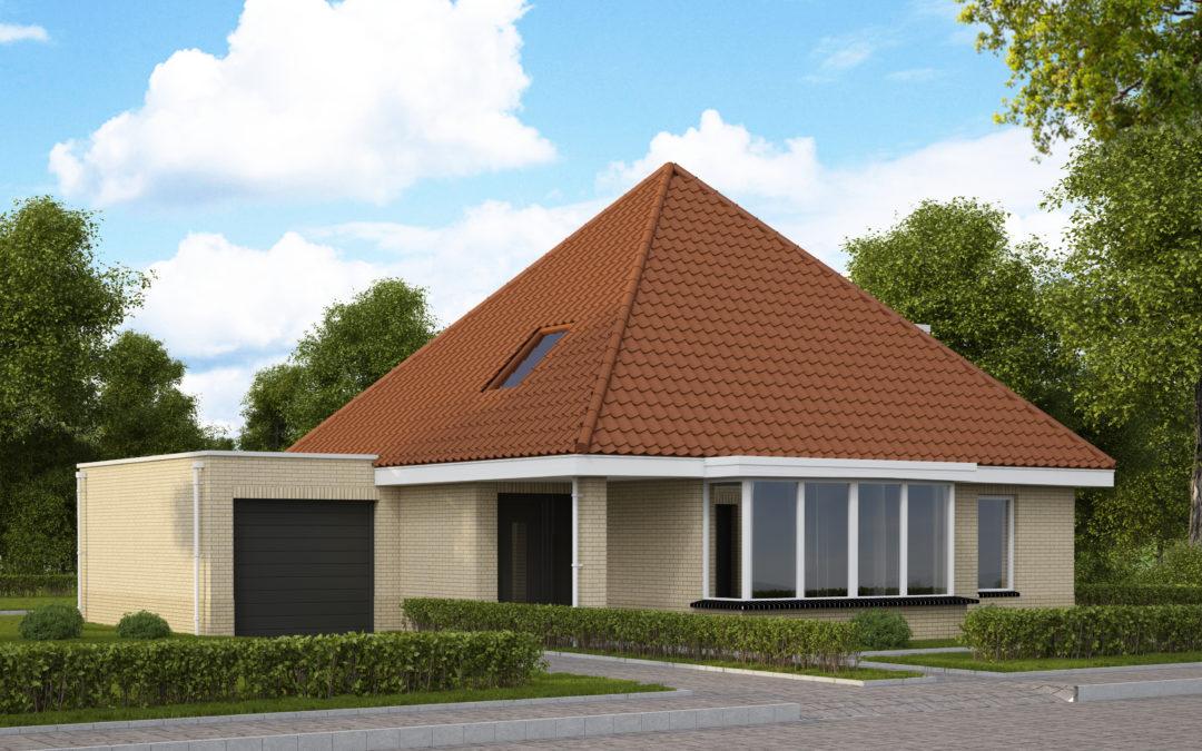 VH06  €275.000,-  Hoofdbouw 9,6 x 9,6 m¹